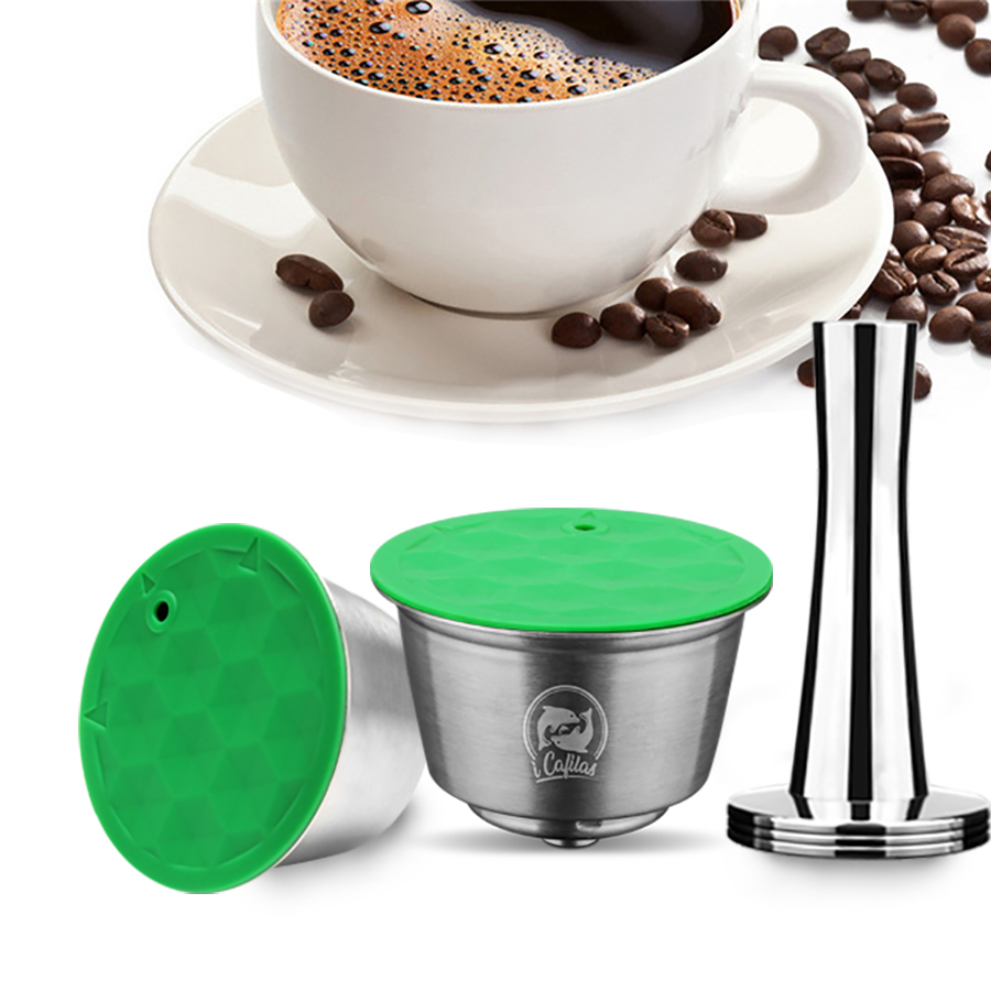 ICafilas Reusable Dolci Gusto STAINLESS STEEL Metal capsule Compatible with dolce gusto coffee Machine Refillable  capsuleICafilas Reusable Dolci Gusto STAINLESS STEEL Metal capsule Compatible with dolce gusto coffee Machine Refillable  capsule