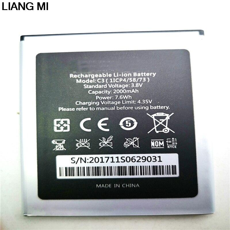 Pour Oukitel C3 Batterie de Haute Qualité Nouvelle 2000 mah Bateria Accumulateur AKKU avec téléphone stander pour le cadeau
