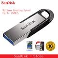 SanDisk 100% Original genuino Ultra estilo USB 3,0 USB Flash Drive 16 GB 32 GB 64 GB 128 GB Pen drive memoria Stick 10 años de garantía.