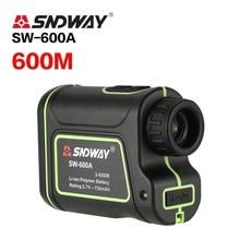 SNDWAY SW-600A Monocular Telescope Laser Rangefinder 600m Trena Distance Meter Golf Hunting laser Range speed angle Finder