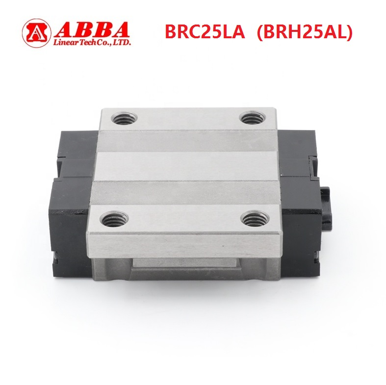 10pcs Original Taiwan ABBA BRC25LA/BRH25AL Linear Flange Block Carriage Linear Rail Guide Bearing for CNC Router Laser Machine|Linear Guides| |  -