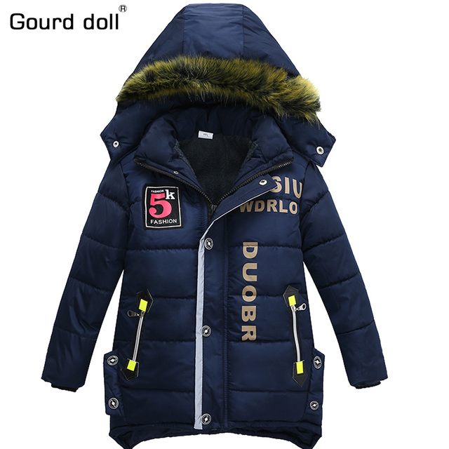 824c8f67bb04 2017 New boy winter jackets   coat child hooded jacket baby kid warm ...