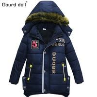 2017 New Baby Boy Jackets Coat Child Hooded Jacket Kid Winter Warm Clothes Fashion Coat Long