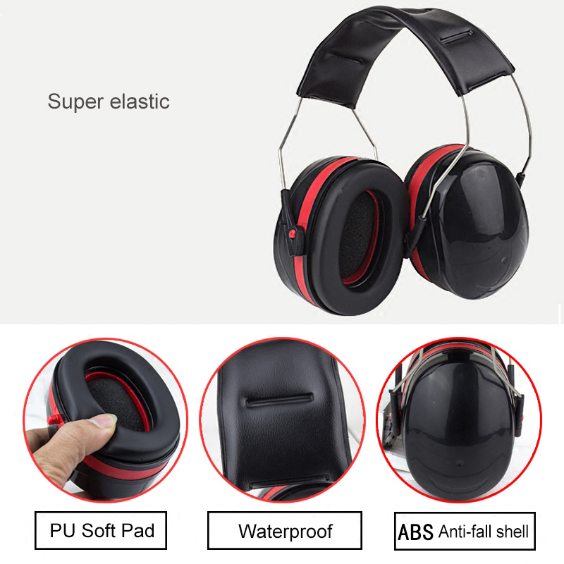 Image 5 - Ear protection anti noise hearing earmuffs protector noise cancelling reduction muffs earplugs tactical defender headphones-in Ear Protector from Security & Protection