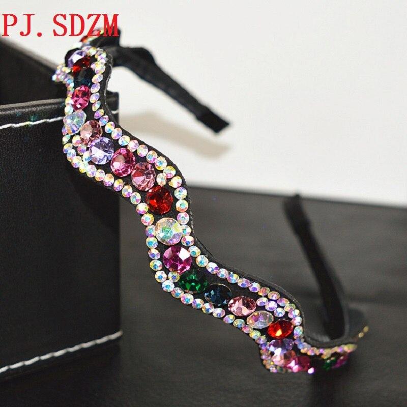 Luxus Volle Kristall Haar Zubehör Shinning Nicht-slip Haarbänder Frauen Mädchen Hohe Qualität Headwear Zähne Mode Korea Hairwear