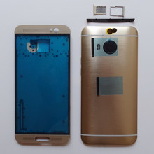 Original For HTC One M9 Plus M9+ Middle Frame LCD Front Bezel Housing +Battery Door Cover Case + Sim/SD Tray with buttons(China)