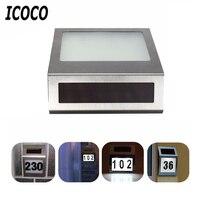ICOCO 3 LED Edelstahl Solarbetriebene Beleuchtung Türschild Lampe Wasserdicht IP44 Outdoor Hausnummer Licht Wandleuchte Verkauf