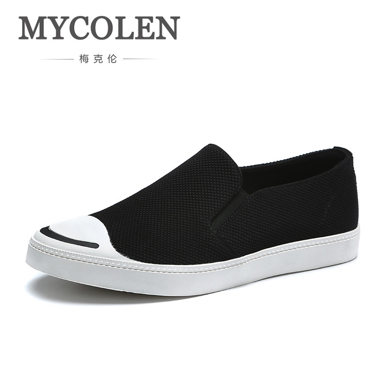MYCOLEN Hot Sale 2018 Fashion Mens Casual Shoes Popular Sneakers Lightweight Canvas Flats Outdoor Men Shoes Sepatu Kulit Pria mycolen the new listing men shoes brand new fashion mens sneakers 2018 breathable elastic band casual shoes man sepatu pria