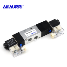 5-way 3-position double solenoid valve 4V330-10 Pneumatic air valve 3/8 BSPT DC12V DC24V AC110V AC220V free shipping 2pcs good qualty 5 port 2 position solenoid valve 4v420 15 have dc24v dc12v ac24v ac36v ac110v ac220v ac380v