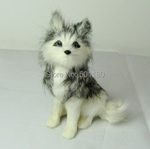 free shipping artificial dog artificial animal decoration toy  mini husky  model dog