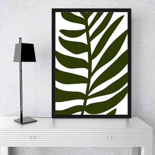 Tropical Verschiedene Farben Palm Blatt Drucken Kunst Leinwand Malerei  Moderne Bild Home Wand Grün Dekor Schlafzimmer Wohnzimmer Kein Rahmen