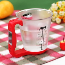 Digital Cup Scale Electronic Measuring Household Jug Scales with LCD Display Temp   Measurement Measuring Cups Tools