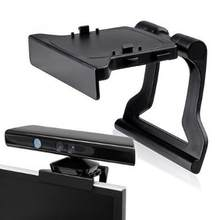 Black Mini Camera TV Clip Holder for Xbox 360 Kinect Video Games Mounting Stand With Retail Gift Box&Tracking Number(China)