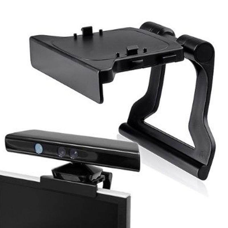 Black Mini Camera TV Clip Holder for Xbox 360 Kinect Video Games Mounting Stand With Retail Gift Box&Tracking Number image
