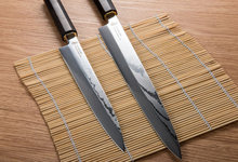 2pcs/set New Yanagiba Sushi Knives set VG10 Japanese Damascus Steel G10 Handle Very Sharp 10.5 inch+8.25 inch