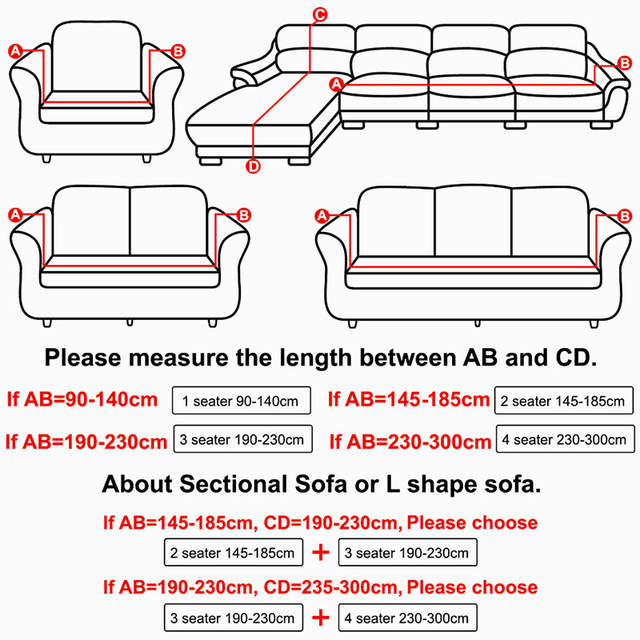 US $16.04 36% OFF|Spandex Elastic Universal Sofa Cover 2 and 3 Seat  Slipcover Geometric Protector Stretch Loveseat Armchair Couch Case Living  Room-in ...