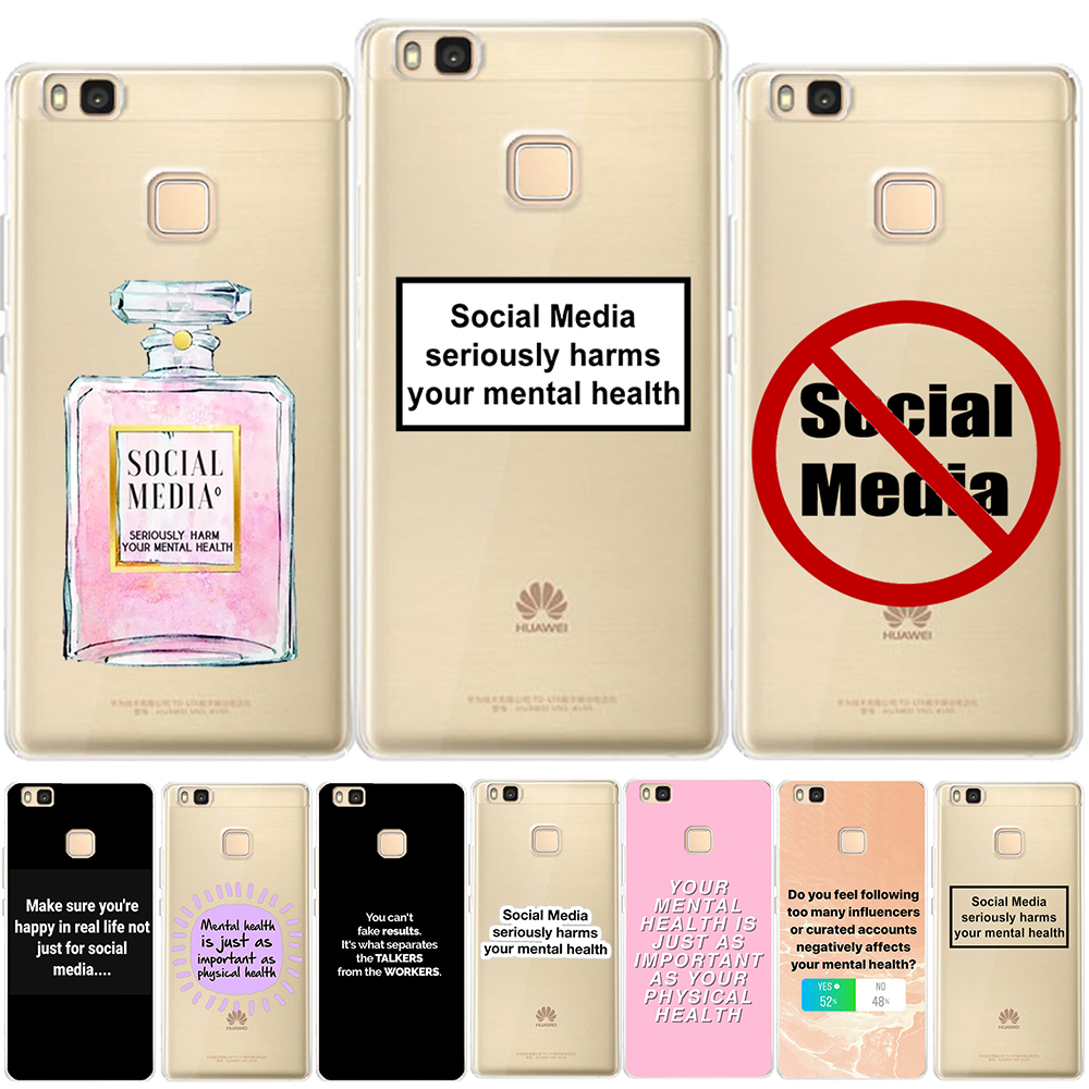 Social Media TPU Case Cover For Huawei P8 P9 P10 P20 Lite Plus Mate 10 Pro P Smart Honor 9 Lite 10 7X 7A Y3 Y7 2017 Y6 Y9 2018 image