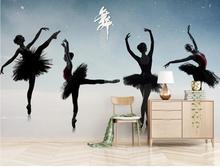 Custom wallpaper mural modern dance studio ballet yoga wall