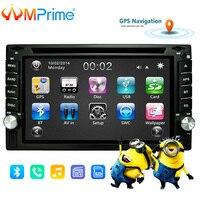 AMPrime 2 din универсальный автомобильный Радио двойной автомобильный dvd плеер gps навигация в тире автомобильный аудио стерео видео Автомобильны