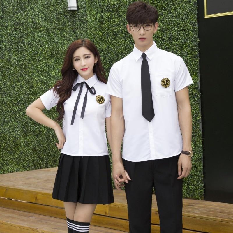 New College School Uniforms Students Sailor Suit Short Sleeved Japanese School Clothes Uniforms Escolar Costume For Girls D-0221