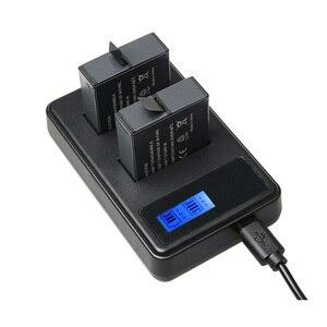 Image 5 - 2 pçs hero6 7 8 herói 5 baterias + display lcd inteligente quantidade de eletricidade carregador para gopro hero 7 5 6 acessórios de ação preto
