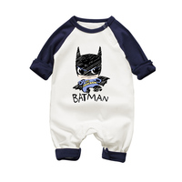 2017 Newborn Batman Superman Baby Romper Baby Girls Autumn Winter Baby Rompers Long Short Sleeves Cotton