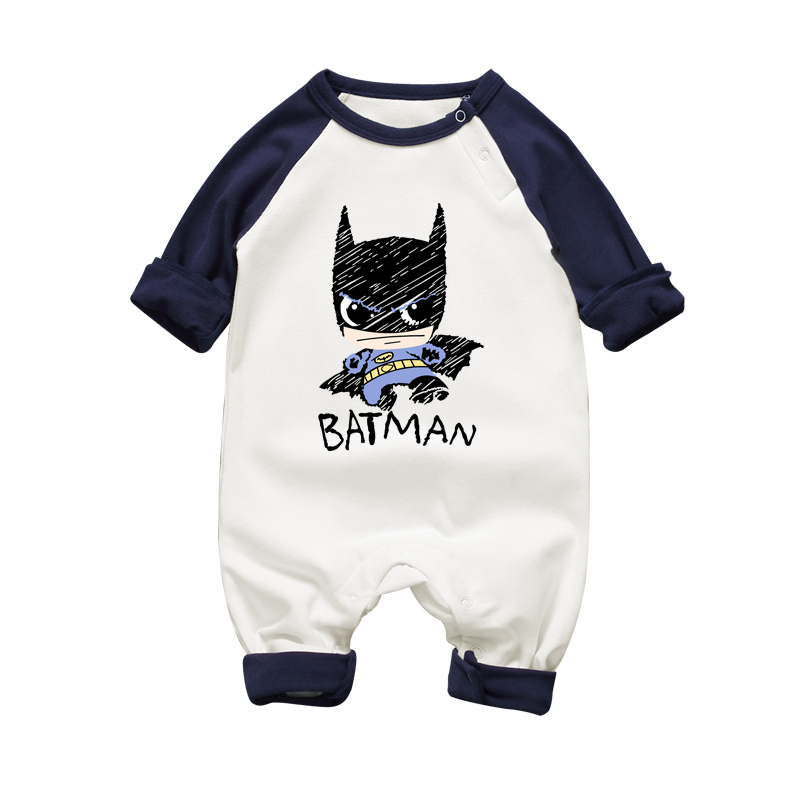 2017 Newborn Batman Superman Baby   Romper   Baby Girls Autumn Winter Baby   Rompers   Long Short Sleeves Cotton Jumpsuit Clothes