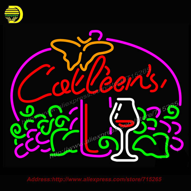 Catleens Bier Becher Neonzeichen Real Neonröhre Handcrafted Erholung Zimmer Bar Pub Ikonischen Zeichen licht bud light Kunst Zeichen 24x31