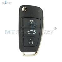 Flip Remote Car Key 8P0 837 220 D for Audi A3 TT 2006 2007 2008 2009 2010 2011 2012 2013 434 Mhz ID48 HU66 3 Button remtekey
