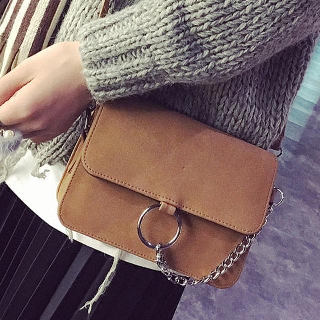 Envío libre, 2017 nueva mujer bolsos de tendencia, bolso del ocio del mensajero, versión Coreana retro bolso de las mujeres, cadena de moda de solapa.