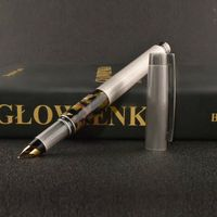 상하이 Fuliwen 815 만년필 레트로 실버 금속 셀룰로이드 잉크 펜 M 펜촉 0.7mm 편지지 사무 학교 용품 쓰기