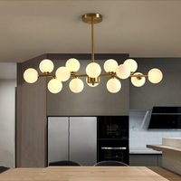 Постмодерн гостиной magic bean потолочные светильники Nordic ресторан лампы стеклянный шар молекулярная потолочный светильник пузырь света ZA82140
