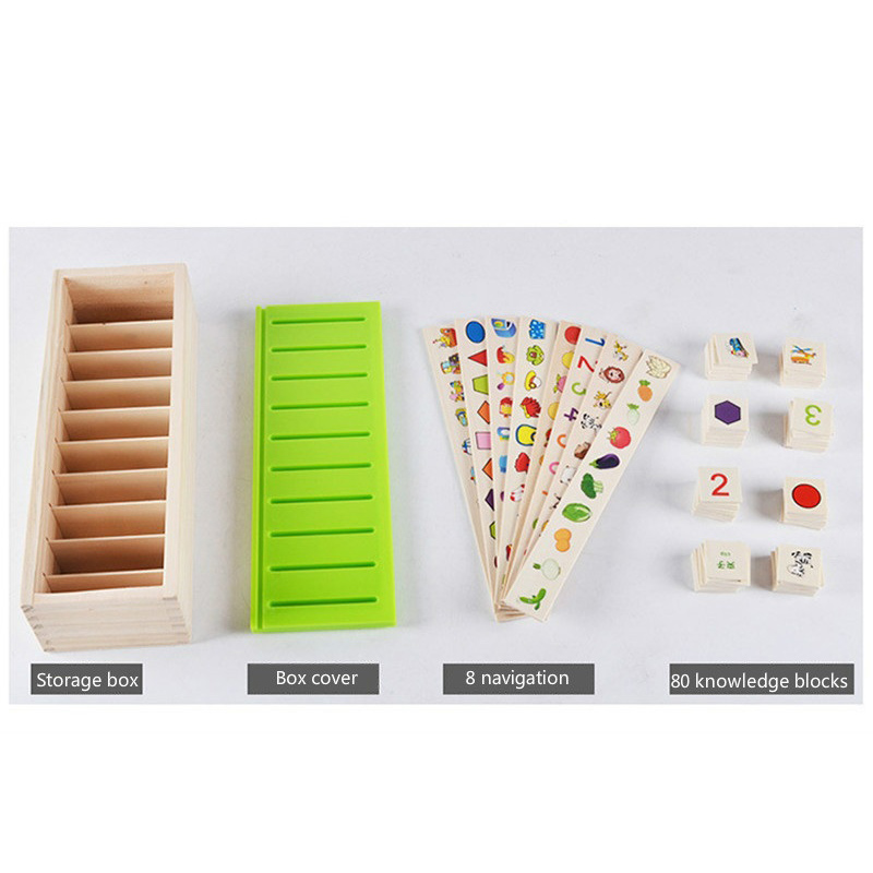 Mathematical Knowledge Classification Cognitive Matching Kids Montessori Early Educational Learn Toy Wood Box Gifts for Children Learning & Education cb5feb1b7314637725a2e7: As picture