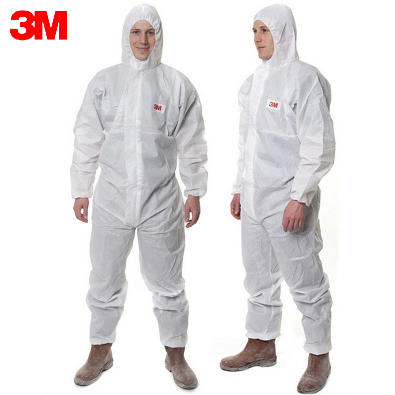 3M 4515White Non-Woven fabric Coverall Clothes Anti static and Anti chemical liquid splash and effective protection of particles 3m 4515white non woven fabric coverall clothes anti static and anti chemical liquid splash and effective protection of particles