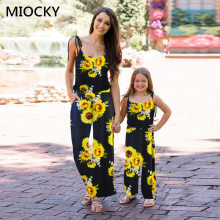 Mom and daughter dress Fashion 2019 New Dress family matching clothes Mother dresses Daughter Clothes E0210