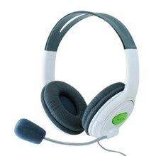 Marsnaska 2016 חדש לבן & שחור ניגודיות צבע אוזניות אוזניות עם מיקרופון מיקרופון עבור Xbox 360 חי בקר באיכות גבוהה