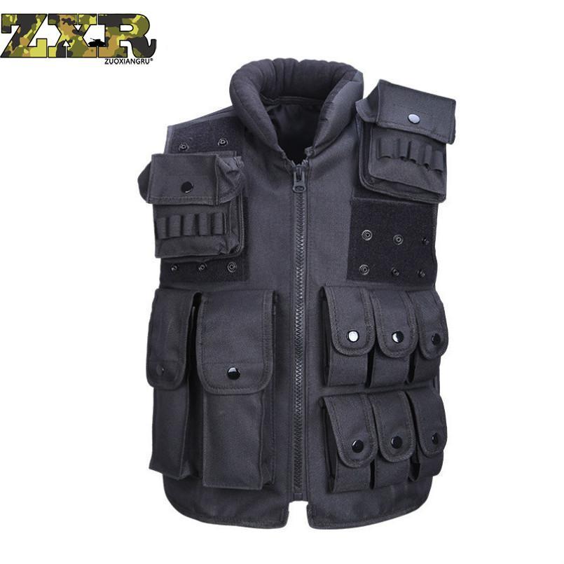 Outdoor Polizei entladen Taktische Viele Taschen Weste Camouflage Military Body Armor Sport Weste Jagd Weste Swat Molle Tops