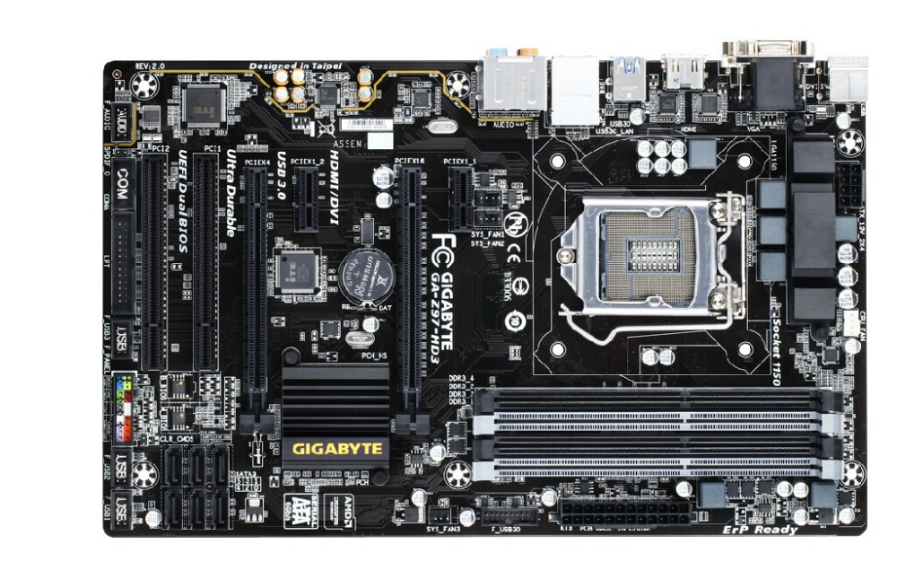Gigabyte GA-Z97-HD3 Original Motherboard LGA 1150 DDR3 Z97-HD3 Boards For I3 I5 I7 Cpu 32GB  Z97 Desktop Motherboard Board
