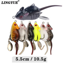 New 5cm/10.5g 1pcs lLifelike Comfortable Mouse Fishing Lures 6 Colours Out there snakehead Hooks Swimbait Wobblers Fishing Sort out Pesca.