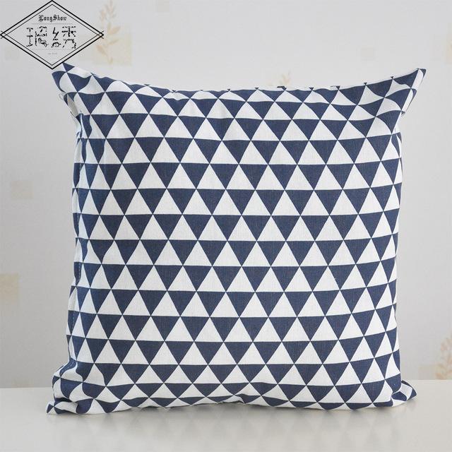 45cm Square Home Decorative Cute Heart Cotton Linen Pillow Cover Case