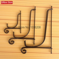 Set Of 3 Black Wrought Iron Plate Rack Dish Display Bracket Desktop Decorate Clock Picture Frame