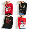 Autumn Winter Christmas Sweater Women Sequins Long Sleeve Womens Pullover Knitted Red Sweaters