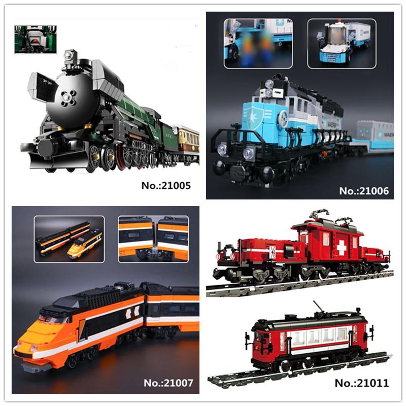 LEPIN 21005 Emerald Night 21006 Maersk Train 21007 horizon express 21011 Medical Changing Train Building Block 10183 10194 10233