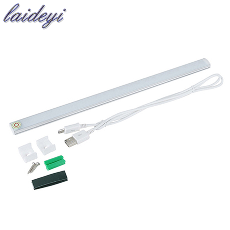 laideyi white touch sensor dimmable under cabinet light kitchen light led aluminum bar lighthard rigid bar light drop shiping - Under Cabinet Lighting Led