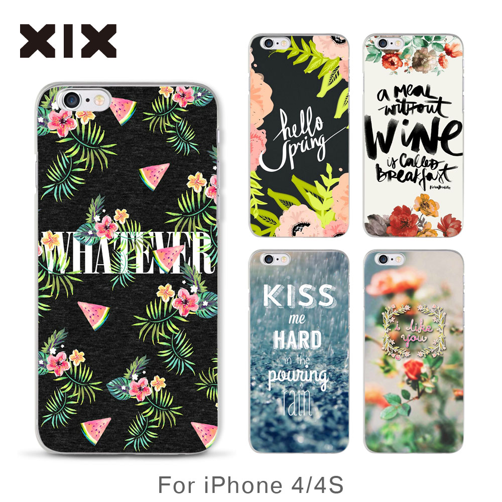 For Apple iPhone 4 4S case Heart story hard PC back cover for coque iPhone 4 4S case 2016 new arrivals for fundas iPhone 4S case