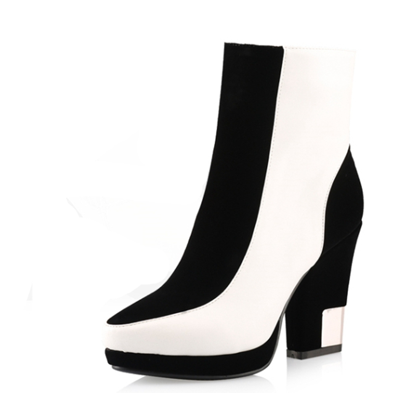 new arrival shoes 2015 winter high heels ankle boots