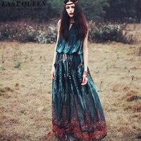 Gothic dress clothing medieval costume woman modern renaissance boho mexican chic hippie dress female KK1430 H
