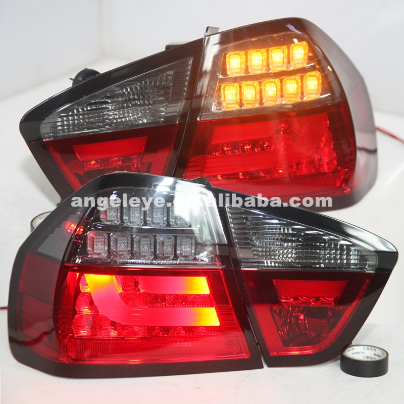 2005-2008 Year For BMW E90 3 Series 320i 323i 325 330 335 LED Tail Lamp Red Black Taillight SN image