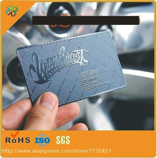 (200pcs/lot)custom Matte Black Background Black Stainless Steel CEO/Owner/Leader Business Cards
