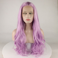 Fantasy Beauty Pink Natural Straight Lace Front Wigs with Baby Hair Fashion LongHair Wig Synthetic Heat Resistant Fiber forWomen